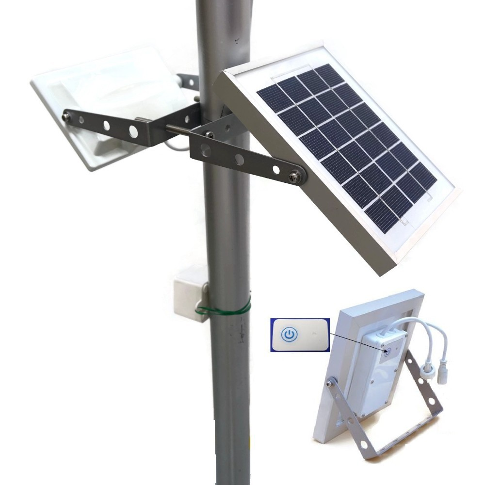 Solar Powered Security Light With Motion Sensor Green
